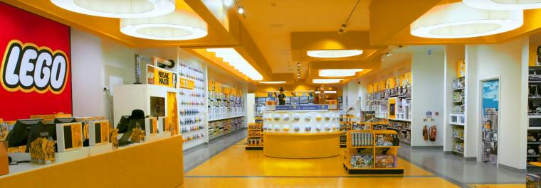 Biggest LEGO store lit by Shoplight powered by SLE