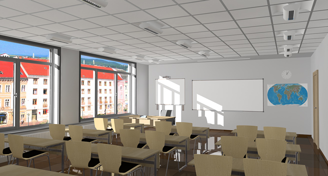 Daylight simulation in the class I