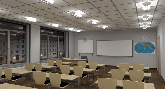 Daylight simulation in the class III