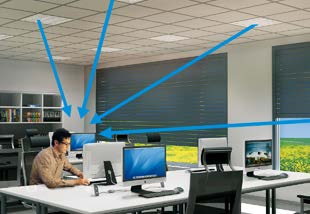 Glare prevention at a workspace